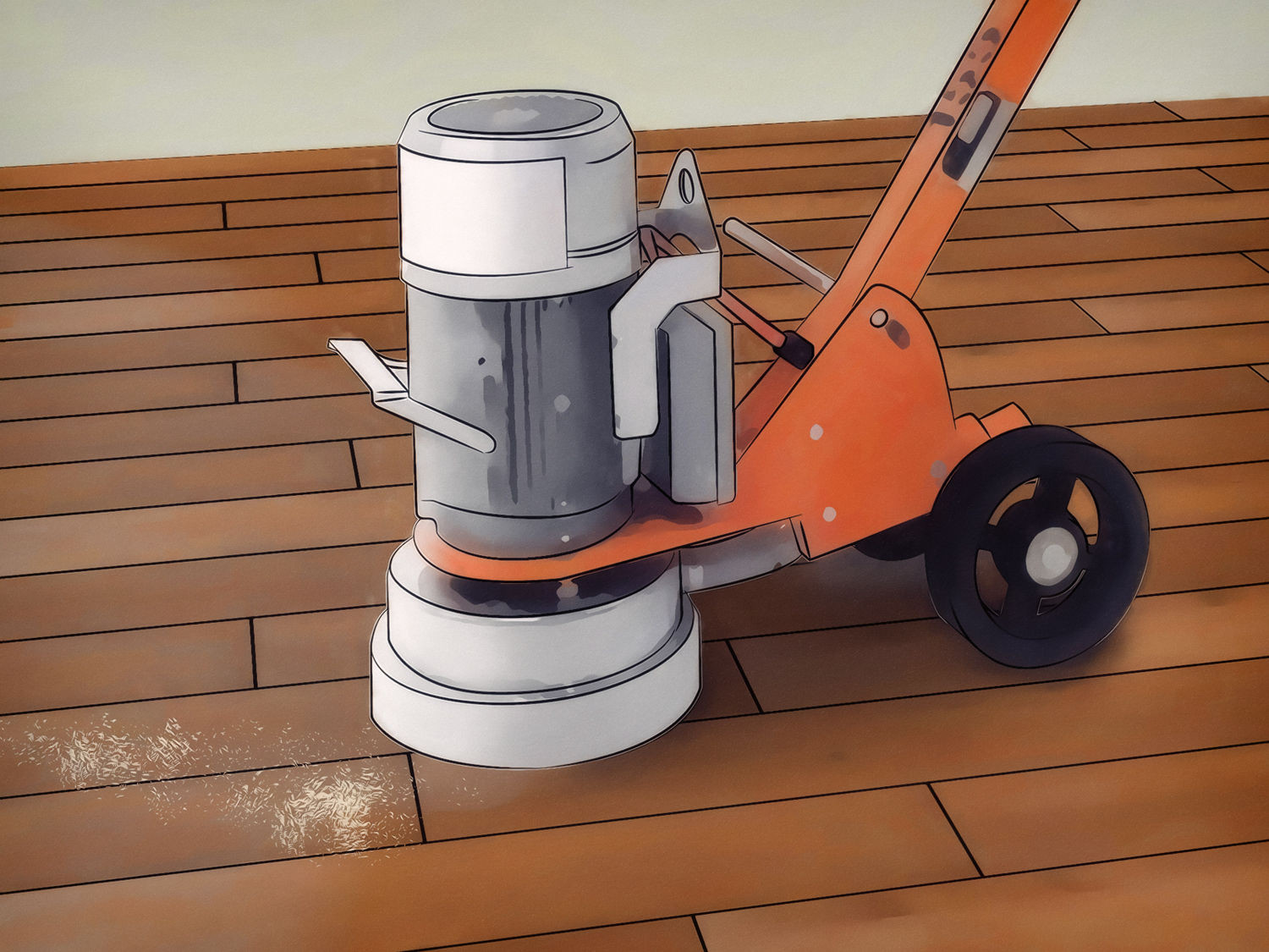 Filling Gaps In Hardwood Floors Sawdust Of How to Finish Hardwood Floors A Vripmaster within Gently Lower It Into Contact with the Floor once Its Begun to Spin