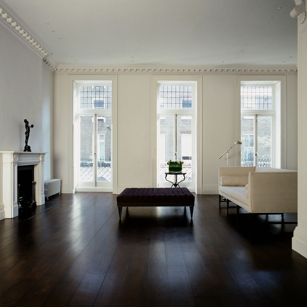 furniture for dark hardwood floors of j o h n m i n s h a w d e s i g n s favorite places spaces in minimalist with dark floors white walls and insane floor to ceiling french doors