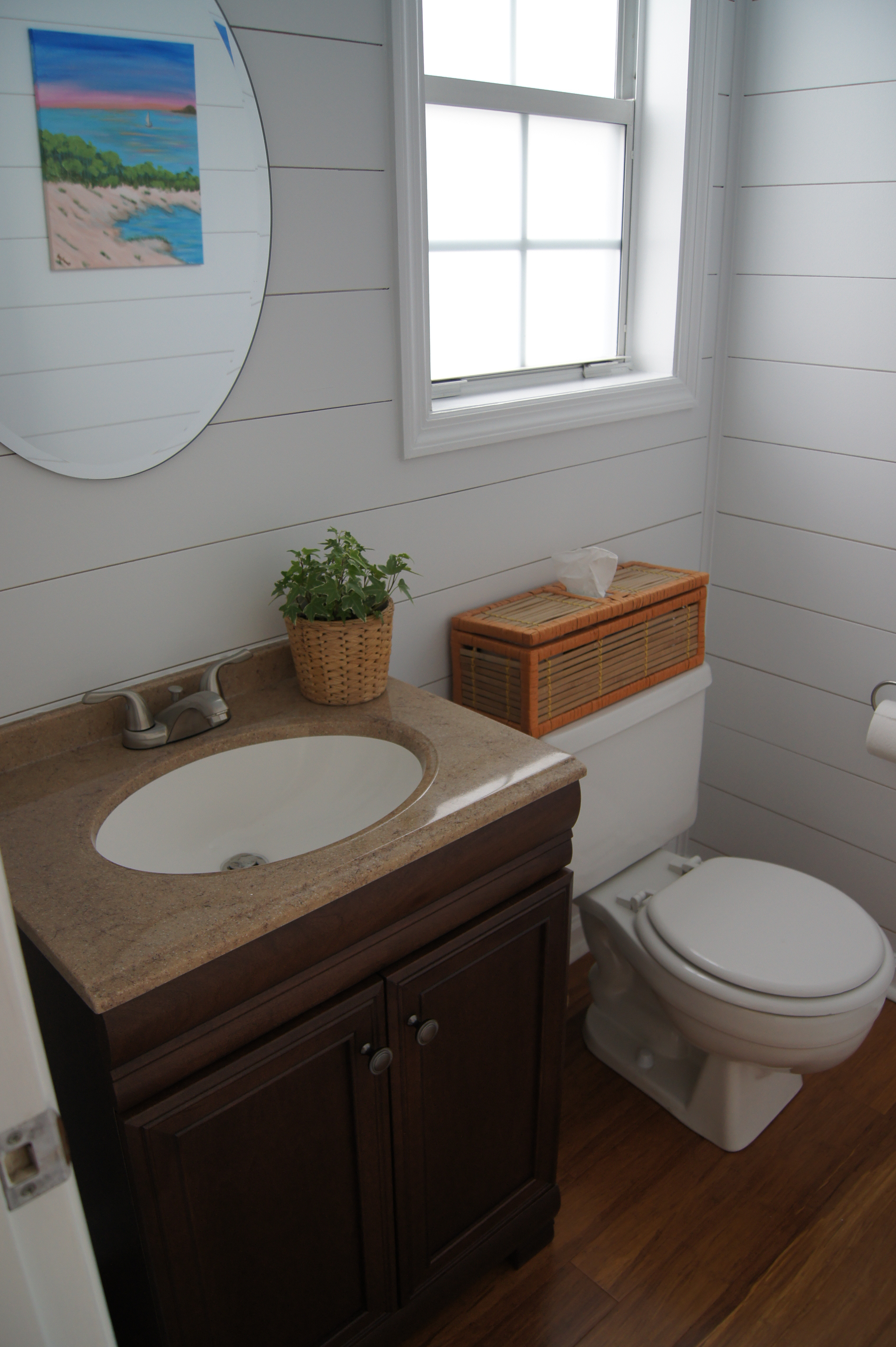 gaps in hardwood floor after installation of shiplap vs nickel gap making your budget work for you hams at home throughout we think the nickel gap really gave the room great character besides our kitchen the walls in the powder room got the most attention from friends family