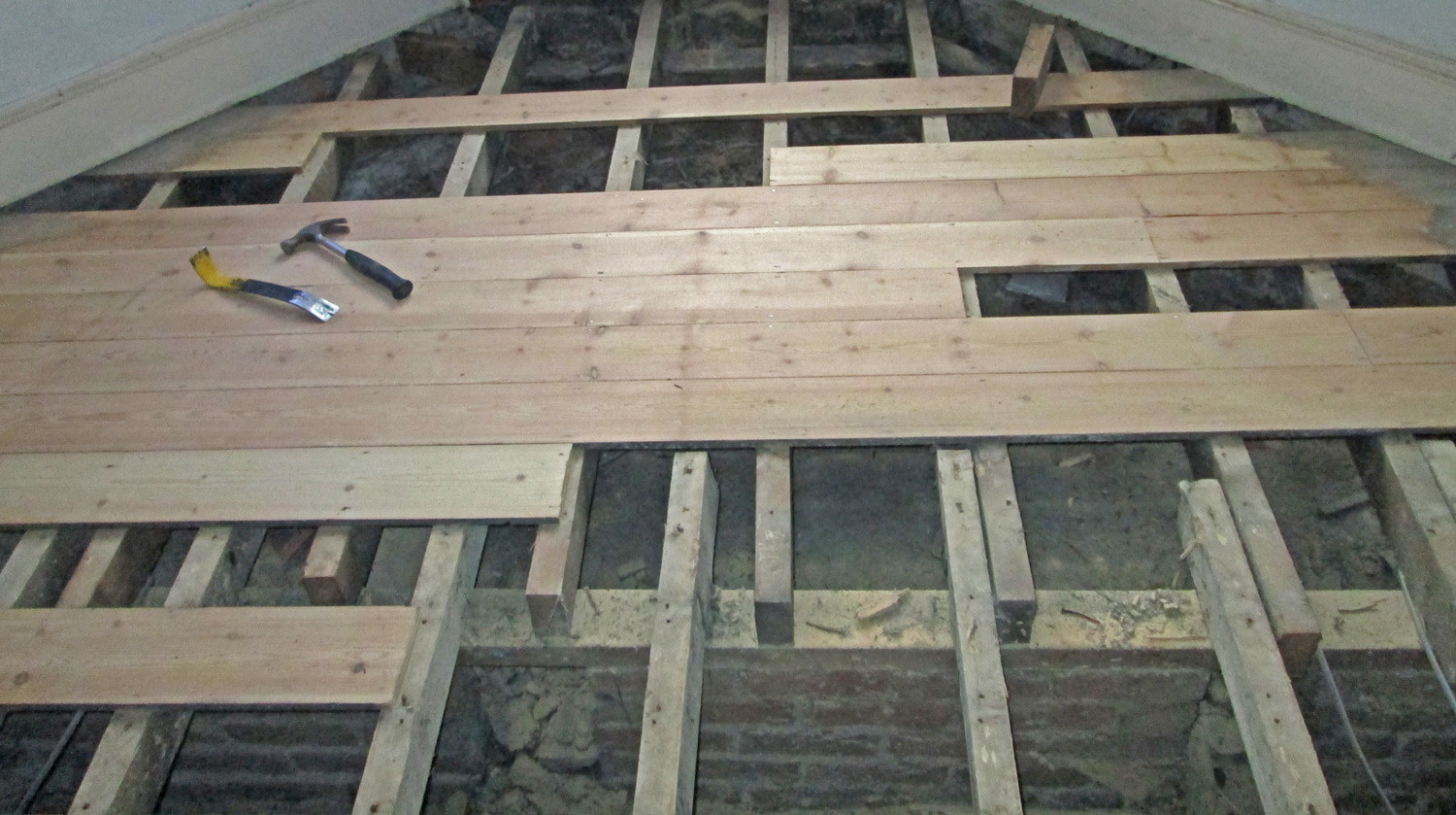Glue Down Hardwood Flooring On Plywood Of How to Install Hardwood Floors Directly Over Joists Wood Floor Fitting Intended for Wood Flooring Nailed Down Over Joists