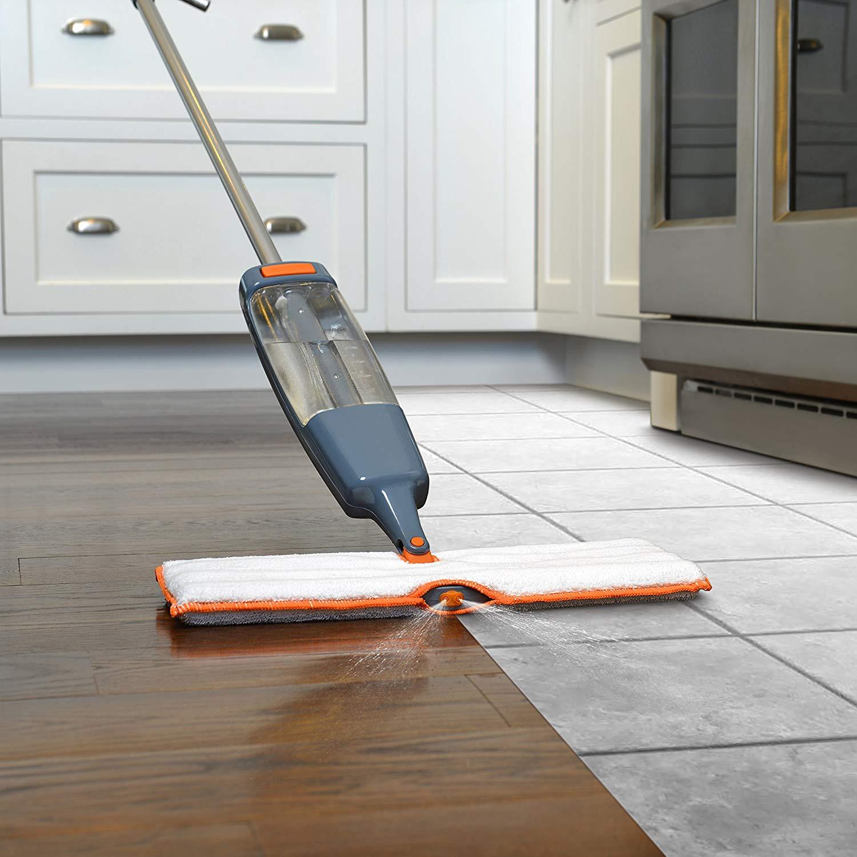 graphite hardwood flooring mallet of amazon com casabella xl quick scrub spray mop graphite and orange regarding amazon com casabella xl quick scrub spray mop graphite and orange home kitchen