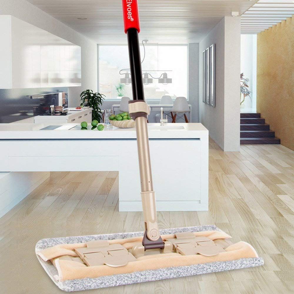 Graphite Hardwood Flooring Mallet Of Amazon Com Elvoes Microfiber Flat Mop Professional 360 Degree Pertaining to Amazon Com Elvoes Microfiber Flat Mop Professional 360 Degree Hardwood Floor Mop with 50 70 Adjustable Handle Wet Dry Mop with Scraper for Bathroom