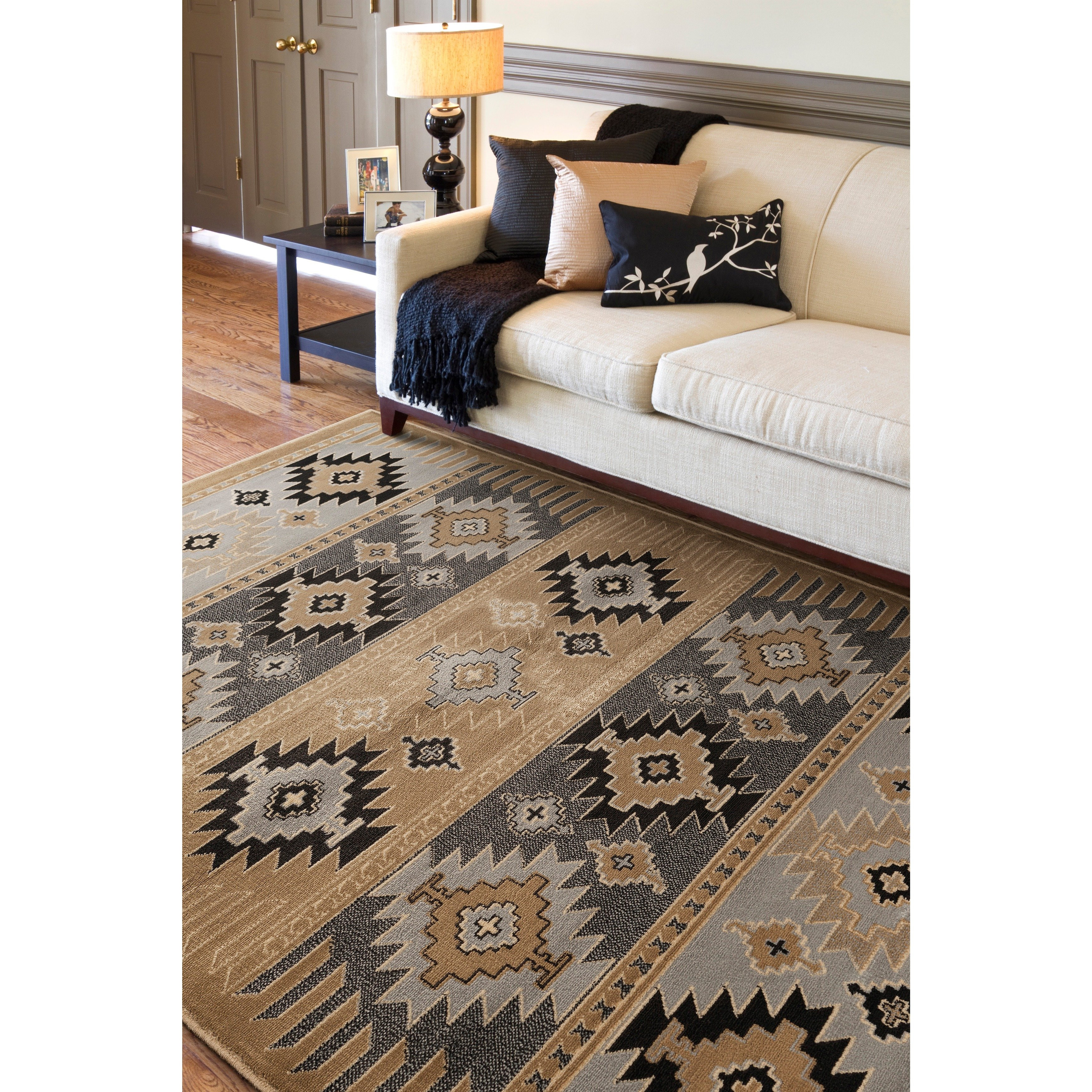 gray brown hardwood flooring of shop southwestern nomad aztec wheat area rug 79 x 112 on sale with shop southwestern nomad aztec wheat area rug 79 x 112 on sale free shipping today overstock com 7714329