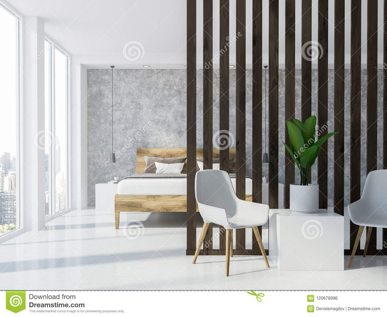 grey hardwood floors bedroom of luxury gray and wooden bedroom interior stock illustration for luxury gray and wooden bedroom interior