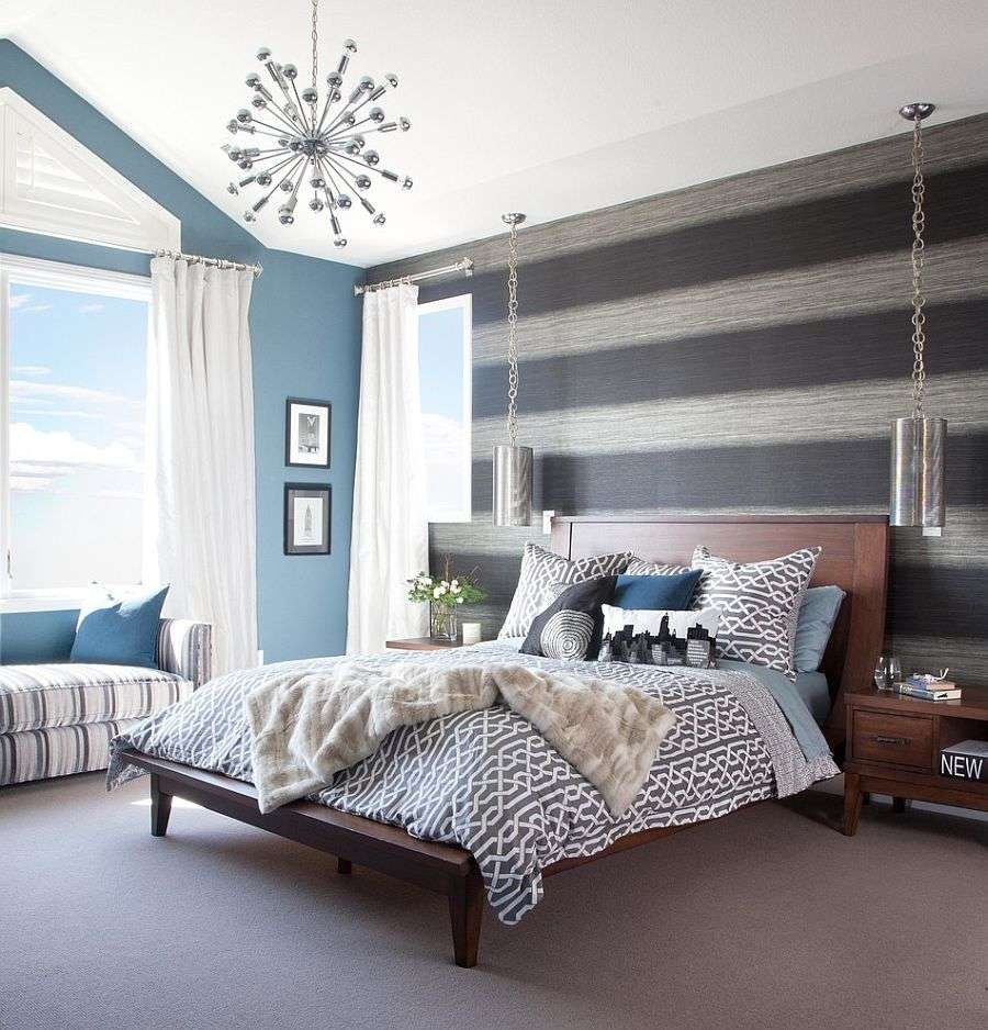 grey hardwood floors grey walls of 40 lovely wood accent wall bedroom hopelodgeutah pertaining to wood accent wall bedroom beautiful 20 trendy bedrooms with striped accent walls