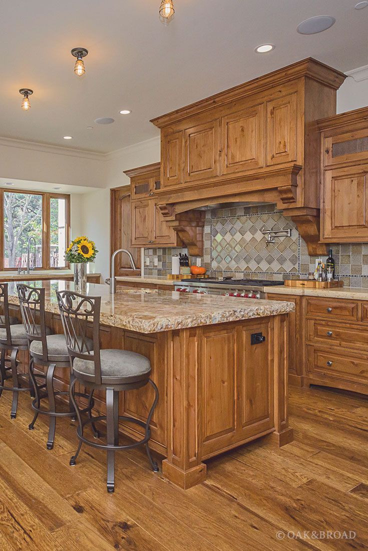 grey hardwood floors with maple cabinets of custom hand scraped hickory floor in cupertino hickory wide plank in wide plank hand scraped hickory hardwood floor by oak and broad kitchen with diamond tile backsplash and rich warm details discover more at