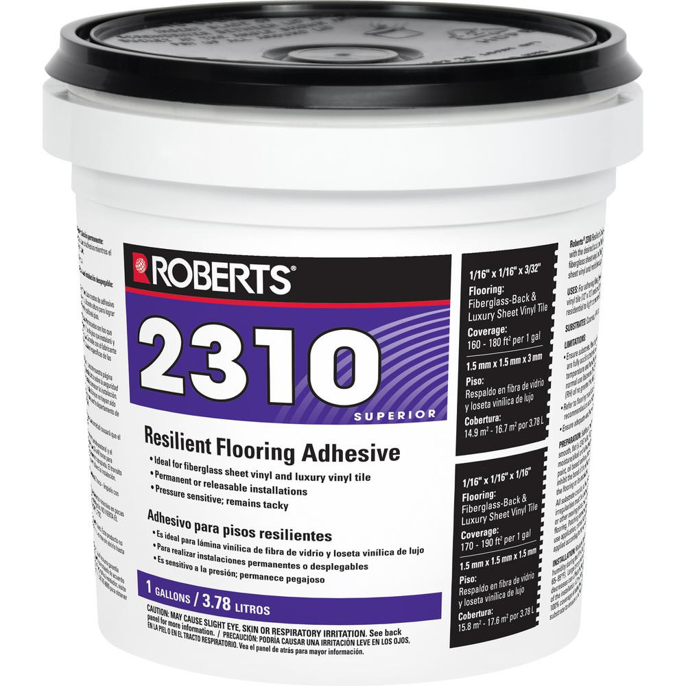 Hardwood Floor Adhesive Home Depot Of Roberts 2310 1 Gal Premium Fiberglass and Luxury Vinyl Tile Glue within Premium Fiberglass and Luxury Vinyl Tile Glue Adhesive