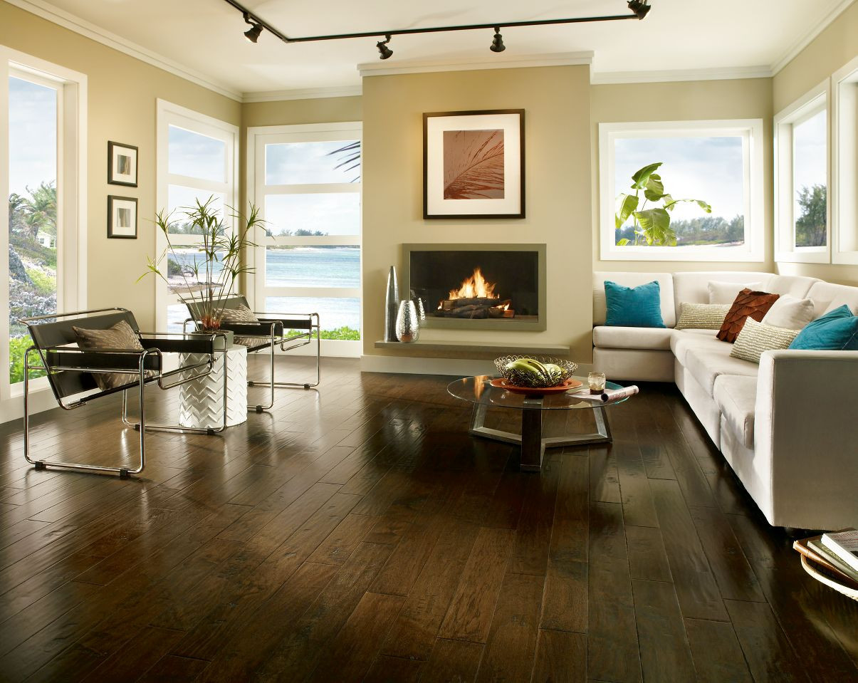 hardwood floor adhesive with moisture barrier of bruce frontier hickory brushed tumbleweed 3 8 x 5 hand scraped within dura luster plus urethane finish promises a long lasting hardwood beauty and durability hickory brushed tumbleweed hardwood flooring comes with a 25 year