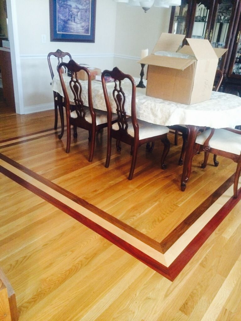 hardwood floor and carpet transition of 3 wide square edge end matched white oak flooring with a border in 3 wide square edge end matched white oak flooring with a border accent of brazilian cherry maple and walnut flooring