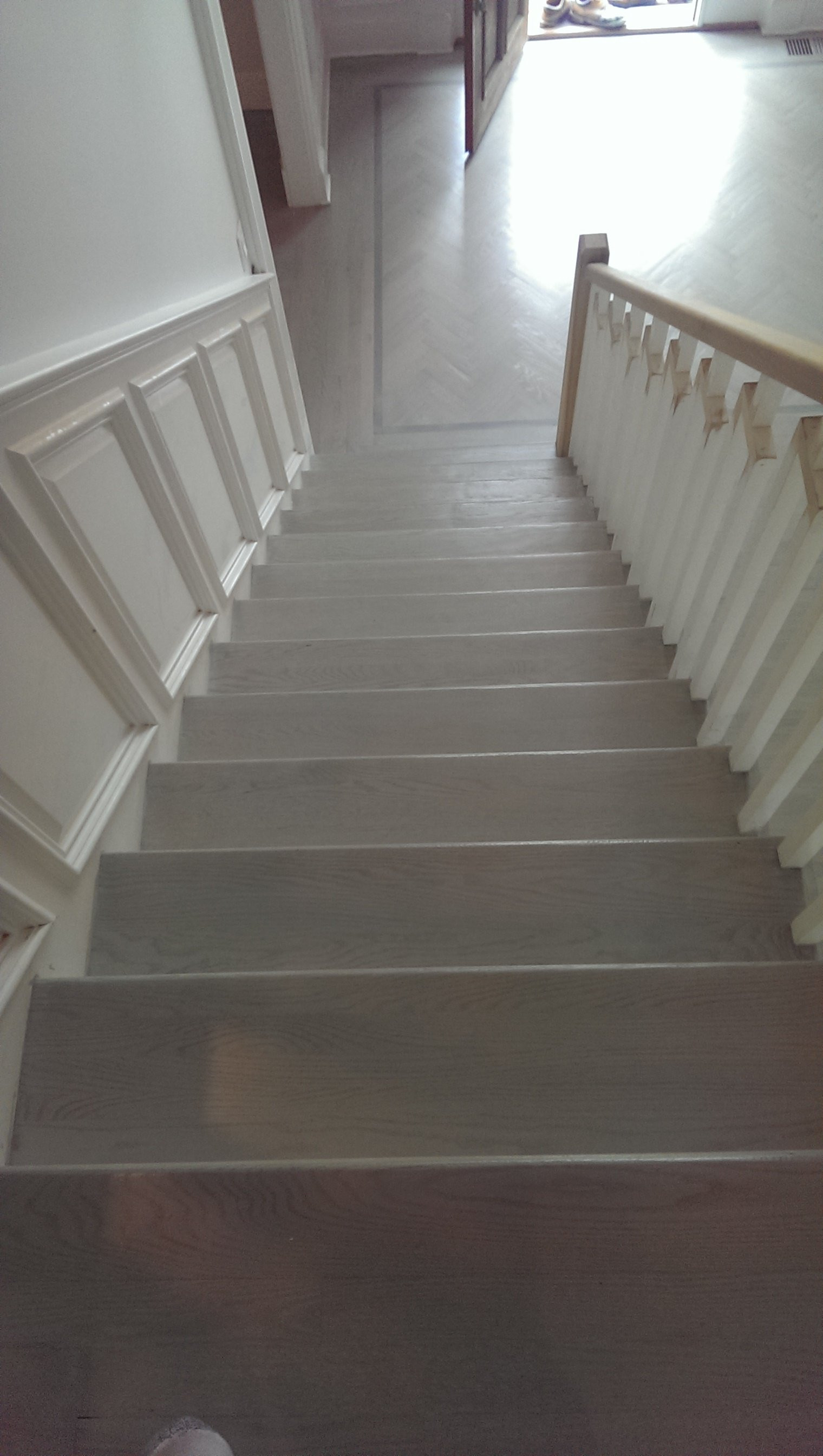 hardwood floor around stairs of american floor service staircase gallery fairfield ct within view all