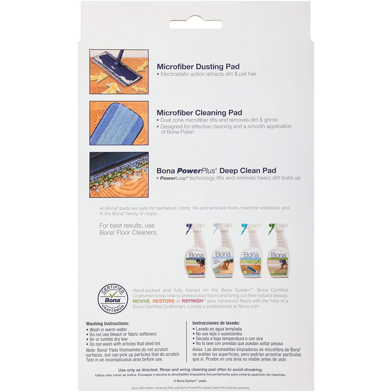 Hardwood Floor Buffing Pads Of Amazon Com Bona 3 Piece Microfiber Pad Pack Home Kitchen within 81kp7f4vi9l Sl1500