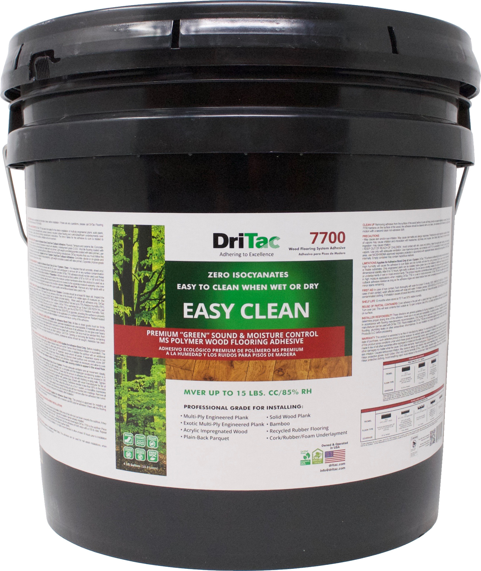 hardwood floor care products of dritac easy clean sound moisture control ms polymer floor adhesive pertaining to dritac 7700 easy clean