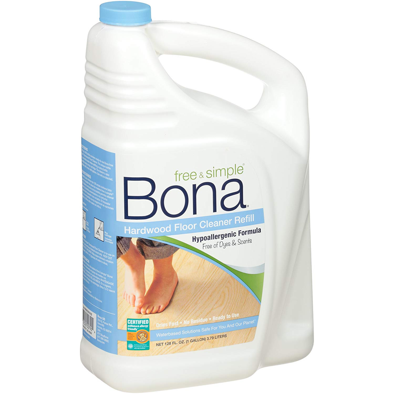 hardwood floor cleaner for scratches of amazon com bona wm700018182 free simple hardwood floor cleaner throughout amazon com bona wm700018182 free simple hardwood floor cleaner refill 128 oz health personal care