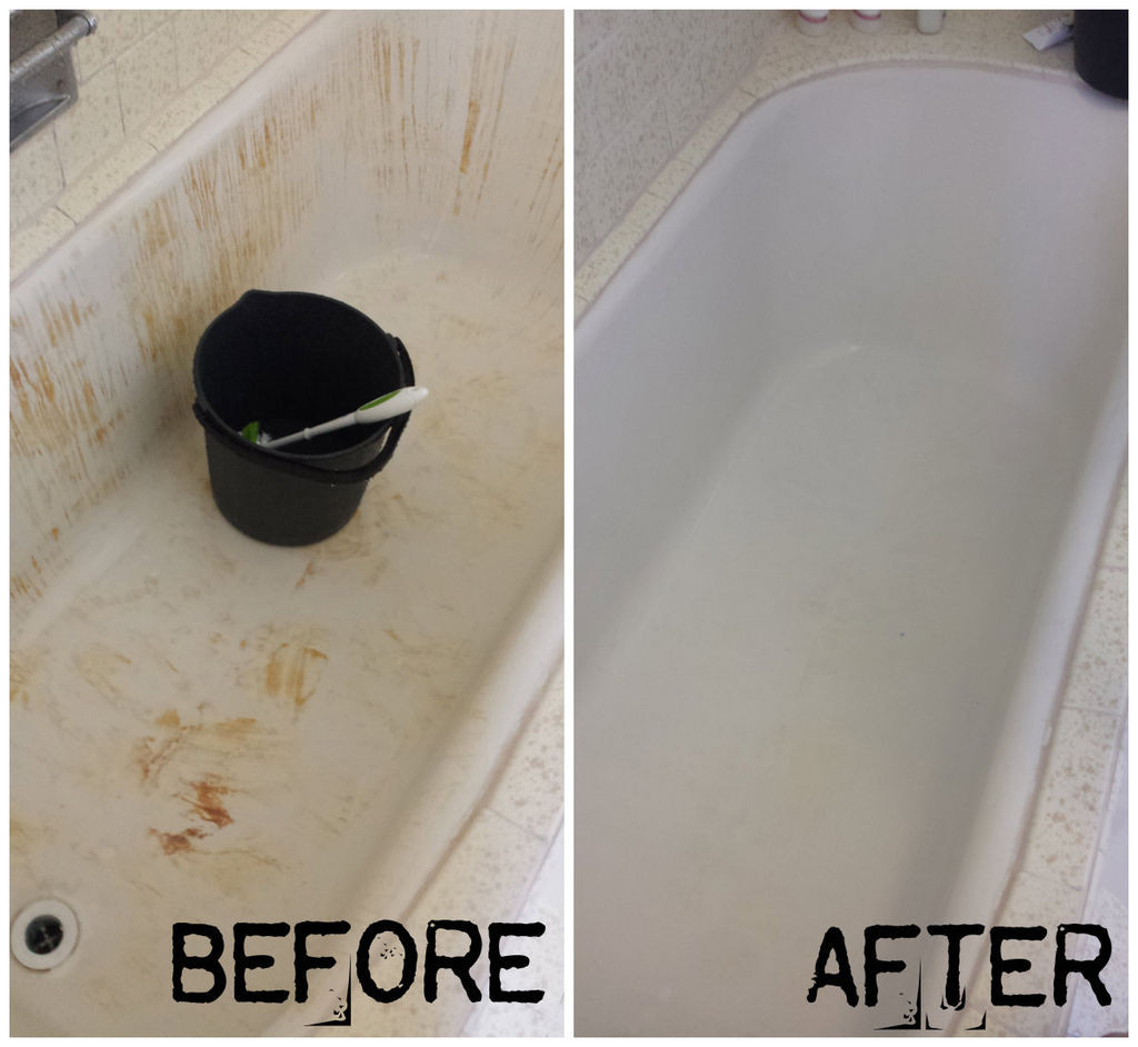 Hardwood Floor Cleaner Leaves Film Of How to Turn Your Bleach Stained Red Bathtub White Again 4 Steps for Picture Of How to Turn Your Bleach Stained Red Bathtub White Again