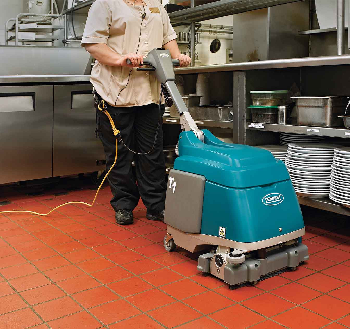Hardwood Floor Cleaner Machine Of T1 Walk Behind Micro Scrubber Tennant Company with Regard to Maintain Health Safety