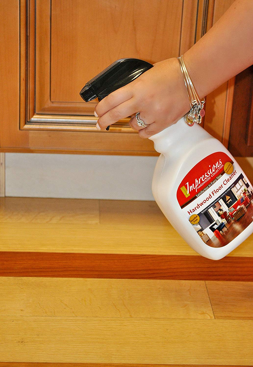 hardwood floor cleaner no residue of amazon com impressions hardwood floor cleaner home kitchen throughout a1e0rlj5rdl sl1500