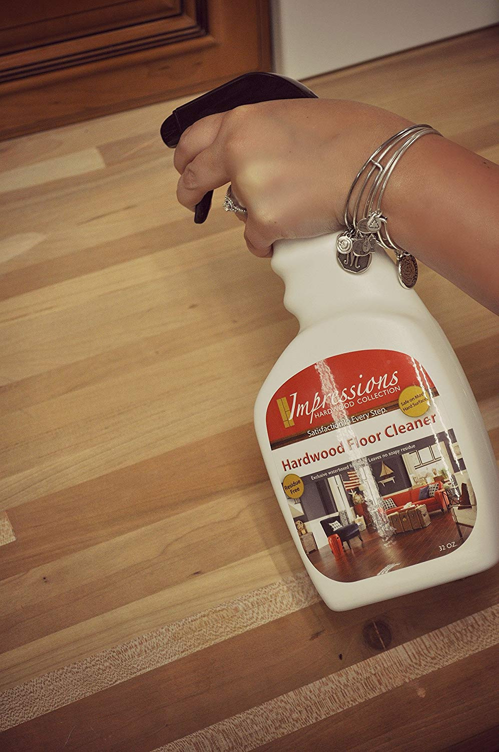 hardwood floor cleaning with white vinegar of amazon com impressions hardwood floor cleaner home kitchen with 91bniu7y84l sl1500