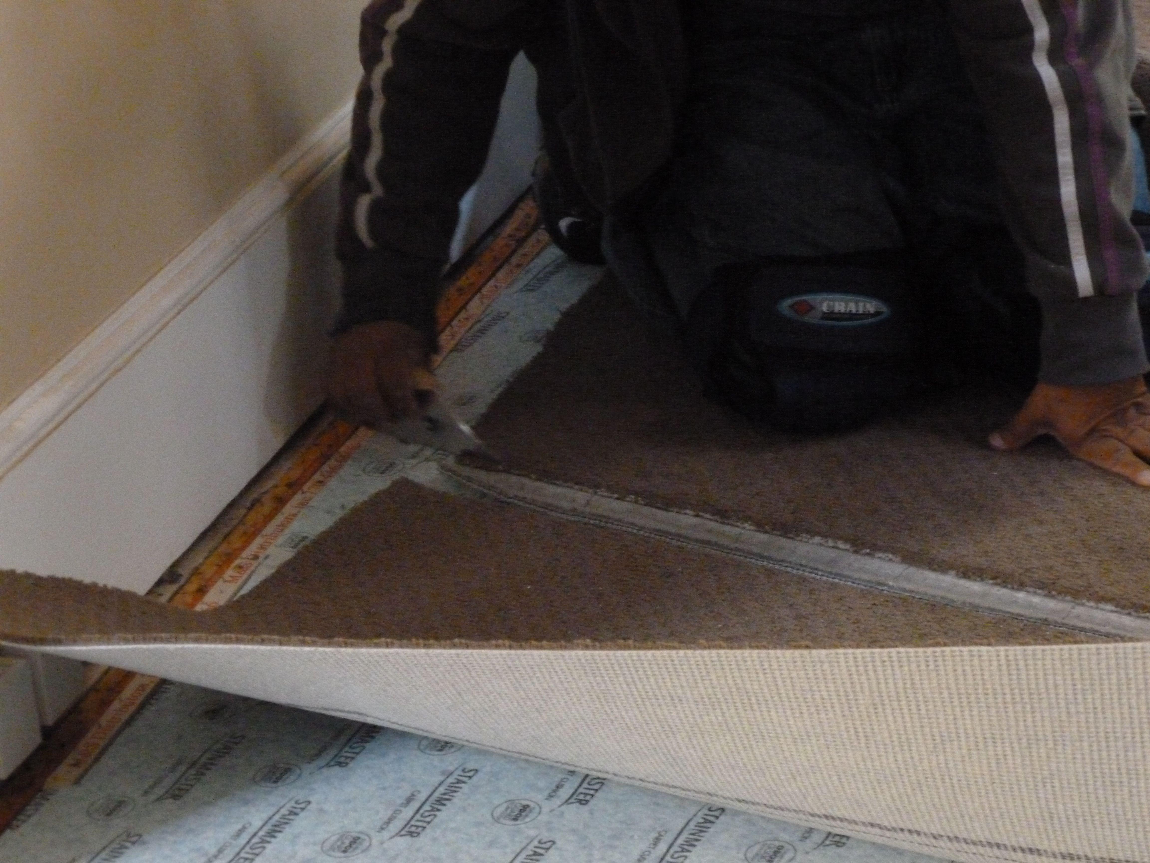 hardwood floor direction hallway of how to cut and glue carpet seams for 1 56a2fd435f9b58b7d0cfffec jpg