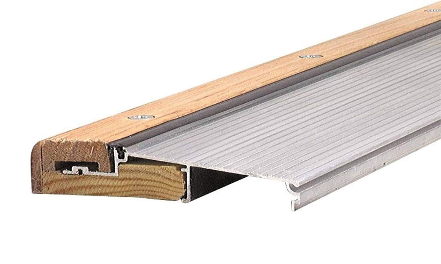 Hardwood Floor Exterior Door Transition Of M D Building Products 78600 1 1 8 Inch by 5 5 8 Inch 36 Inch Th394 Regarding M D Building Products 78600 1 1 8 Inch by 5 5 8 Inch 36 Inch Th394 Adjustable Aluminum and Hardwood Sill Inswing Mill Door Thresholds Amazon Com