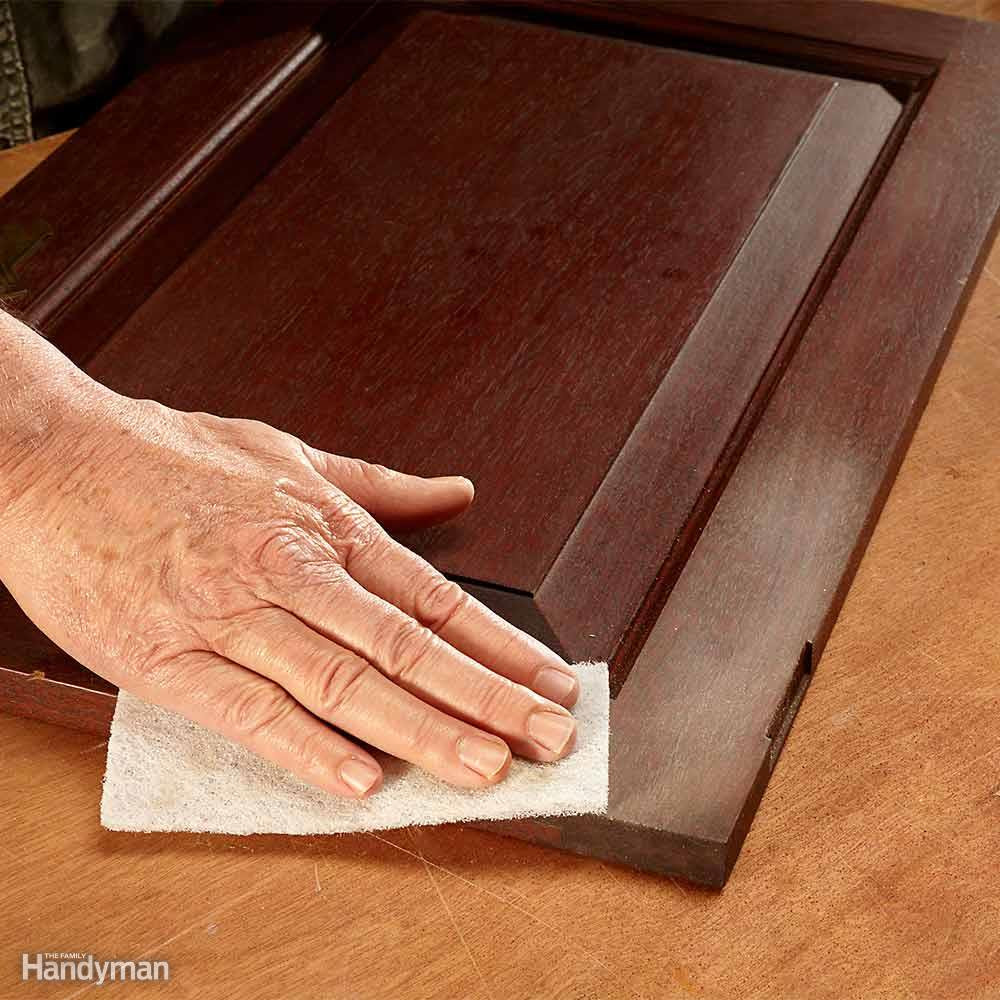 hardwood floor finishes satin or gloss of tips for using water based varnish the family handyman with regard to refinish kitchen cabinets with water based poly
