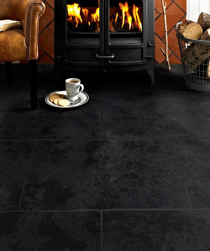 hardwood floor fireplace transition of antique avebury black tile topps tiles regarding hd631058 antique avebury black tile 2