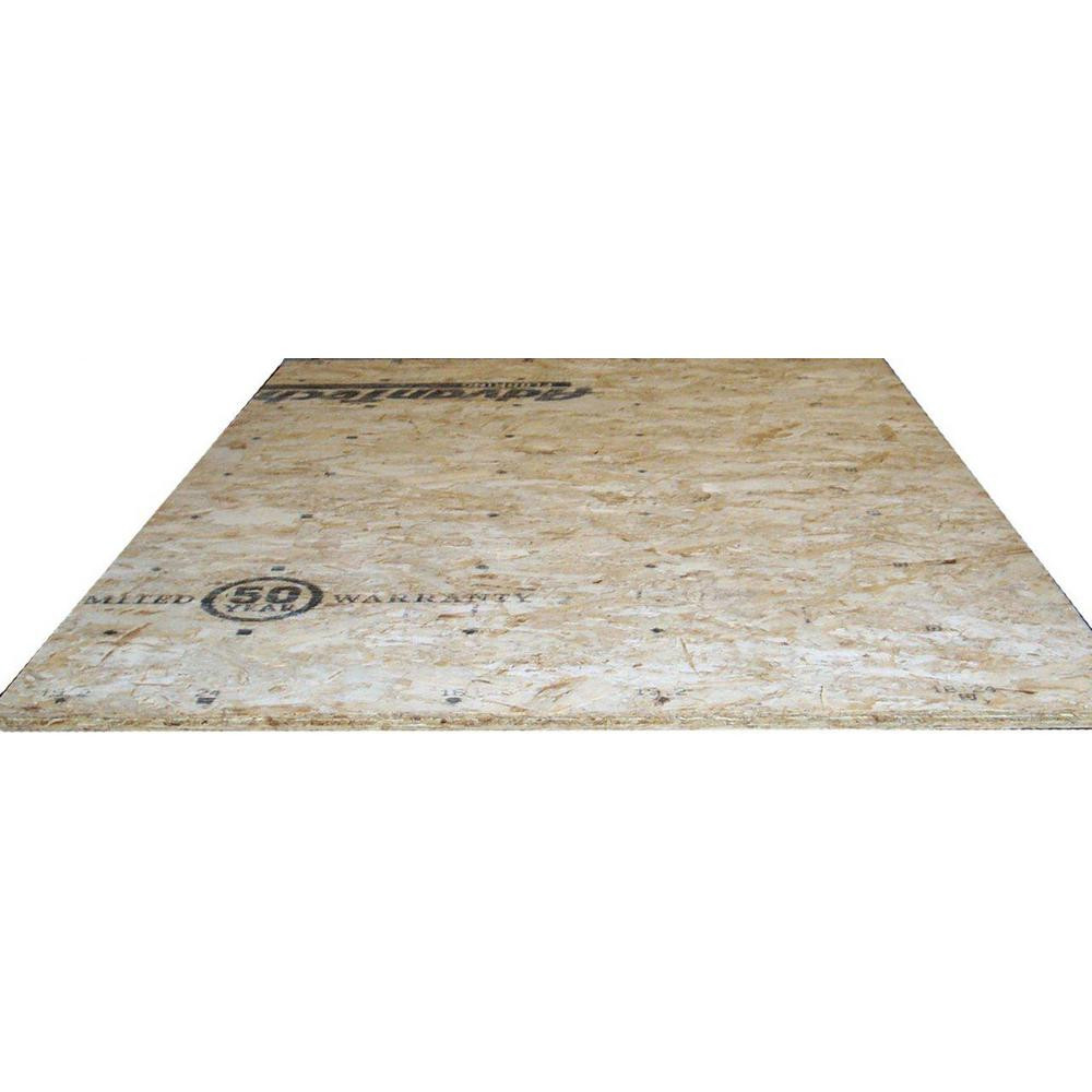 hardwood floor foam tiles of t actual inside advantech 23 32 in x 4 ft x 8 ft tongue