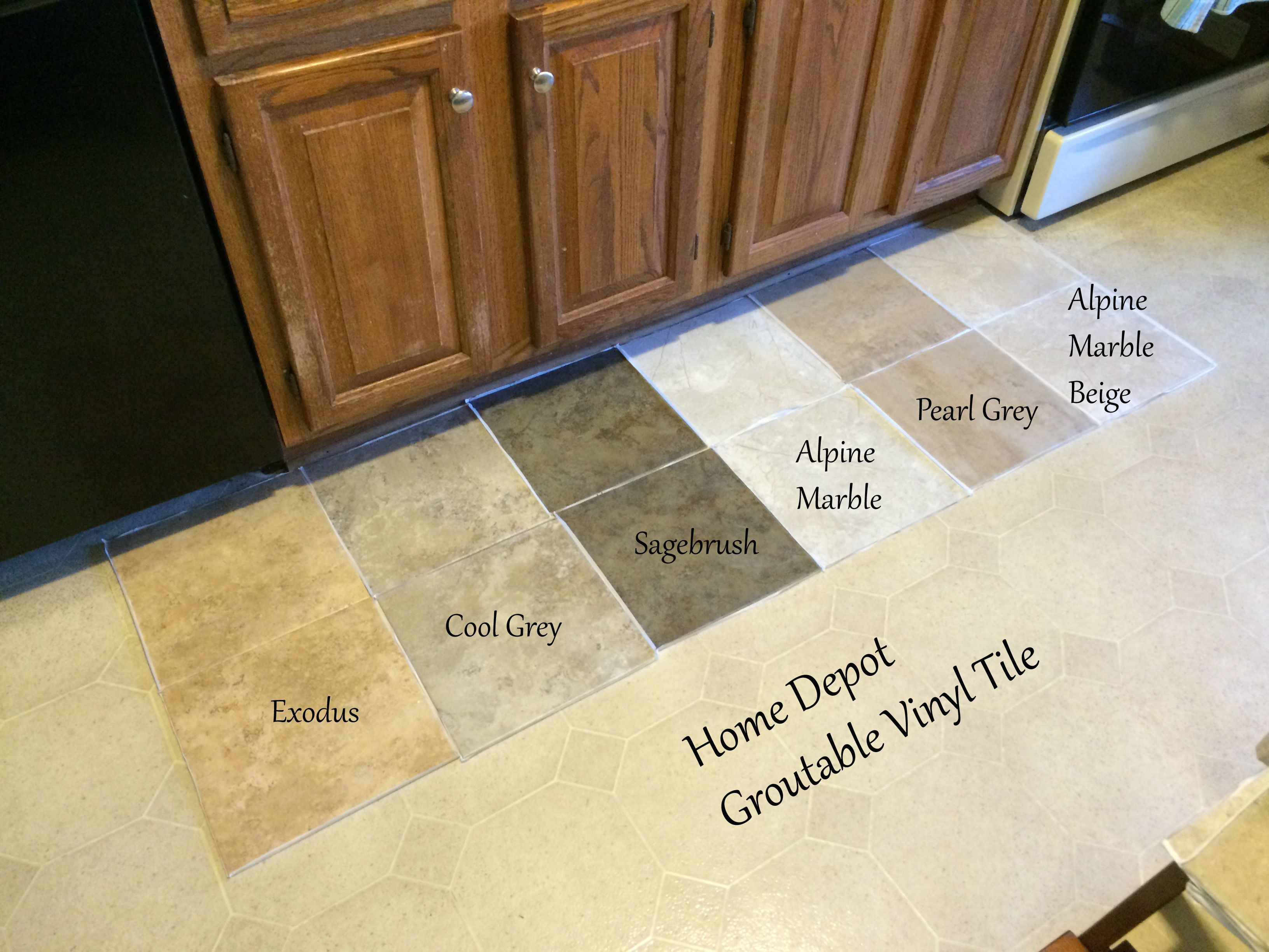 hardwood floor furniture protectors home depot of looking for kitchen flooring ideas found groutable vinyl tile at intended for looking for kitchen flooring ideas found groutable vinyl tile at home depot they only had two color selections so i ordered a bunch more online
