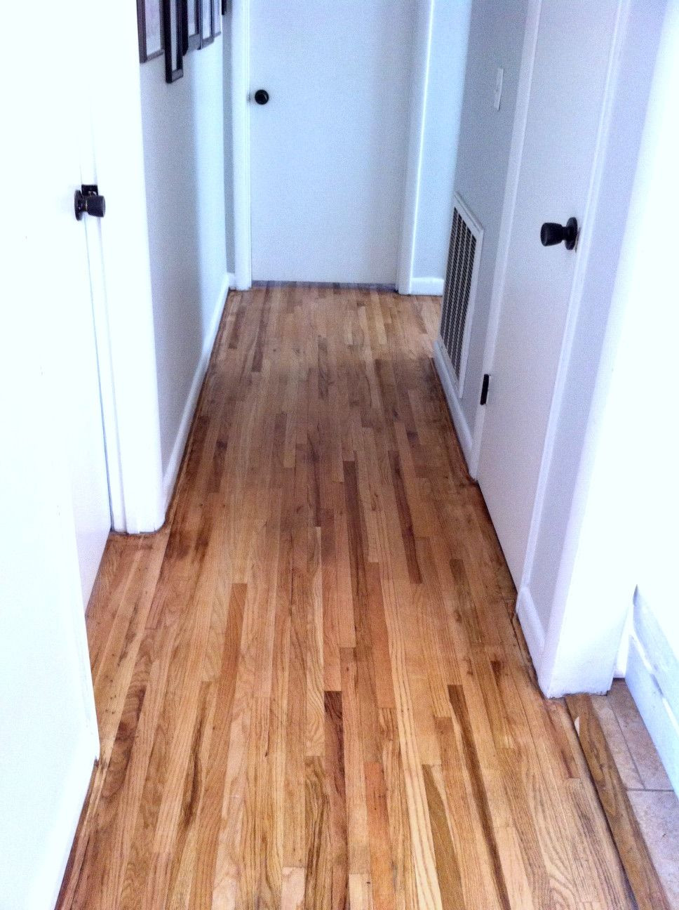 hardwood floor installation cost of this is what happens when you dont listen to the folks at lowes within refinishing hardwood floors includes price breakdown mom in music city i didnt stain my floors i think the natural wood goes well with our house