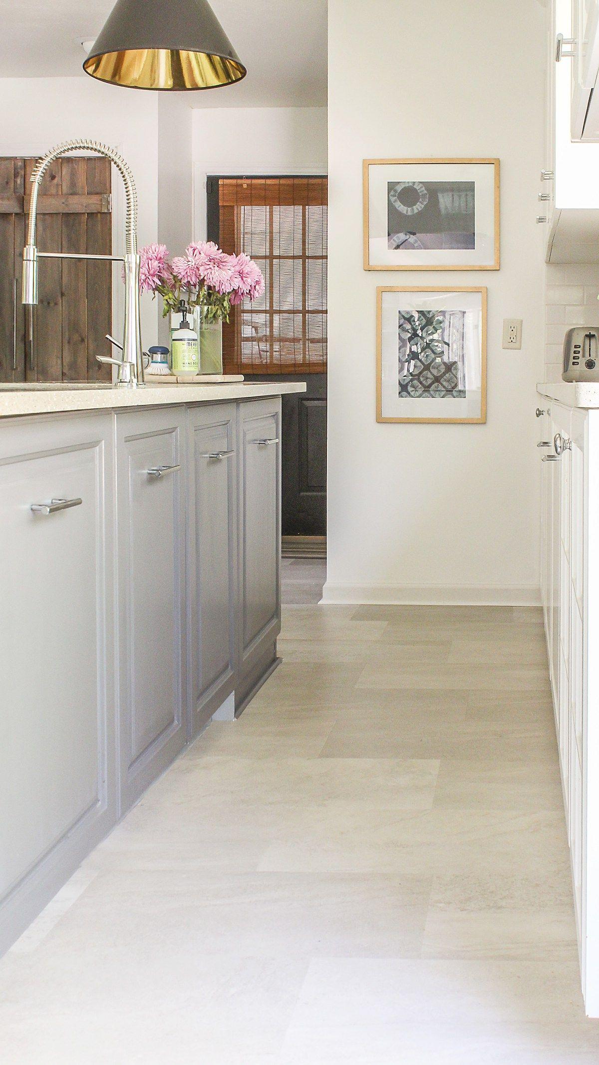 hardwood floor installation fee of lvt flooring over existing tile the easy way vinyl floor within luxury vinyl flooring installation in kitchen over existing tile tutorial
