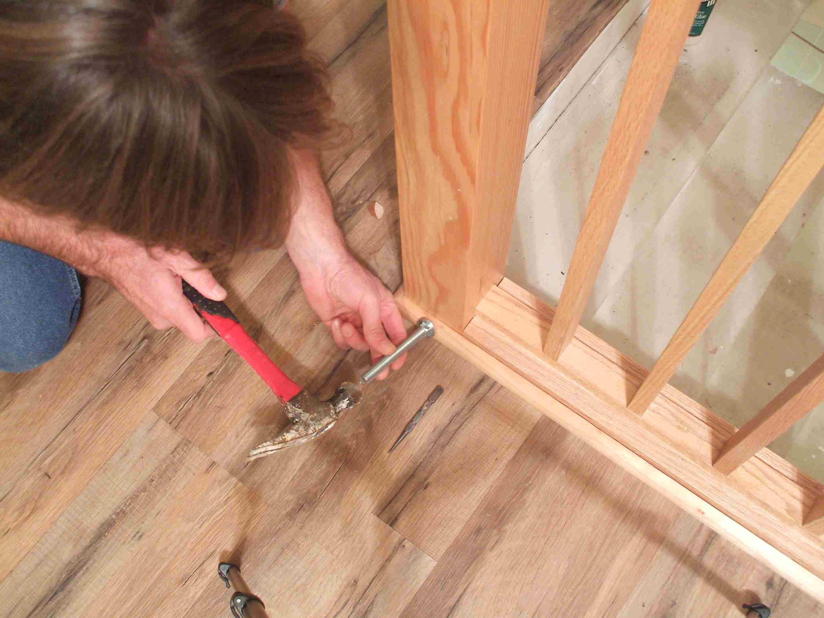 hardwood floor installation nails of how to install shoe molding or quarter round molding in setting protruding brad nails 56a49e595f9b58b7d0d7de0d jpg