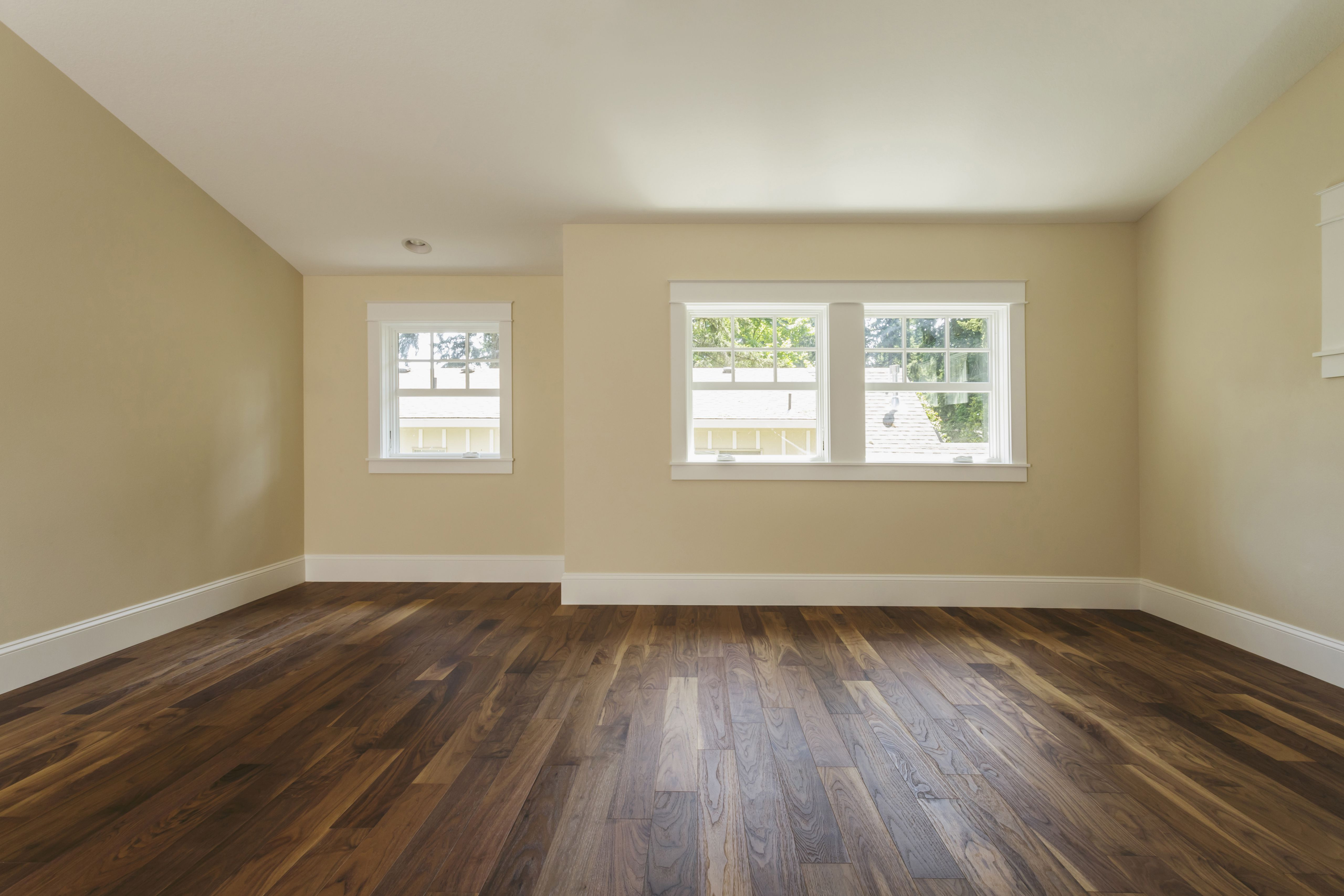 hardwood floor installation time of its easy and fast to install plank vinyl flooring with wooden floor in empty bedroom 482143001 588bd5f45f9b5874eebd56e9