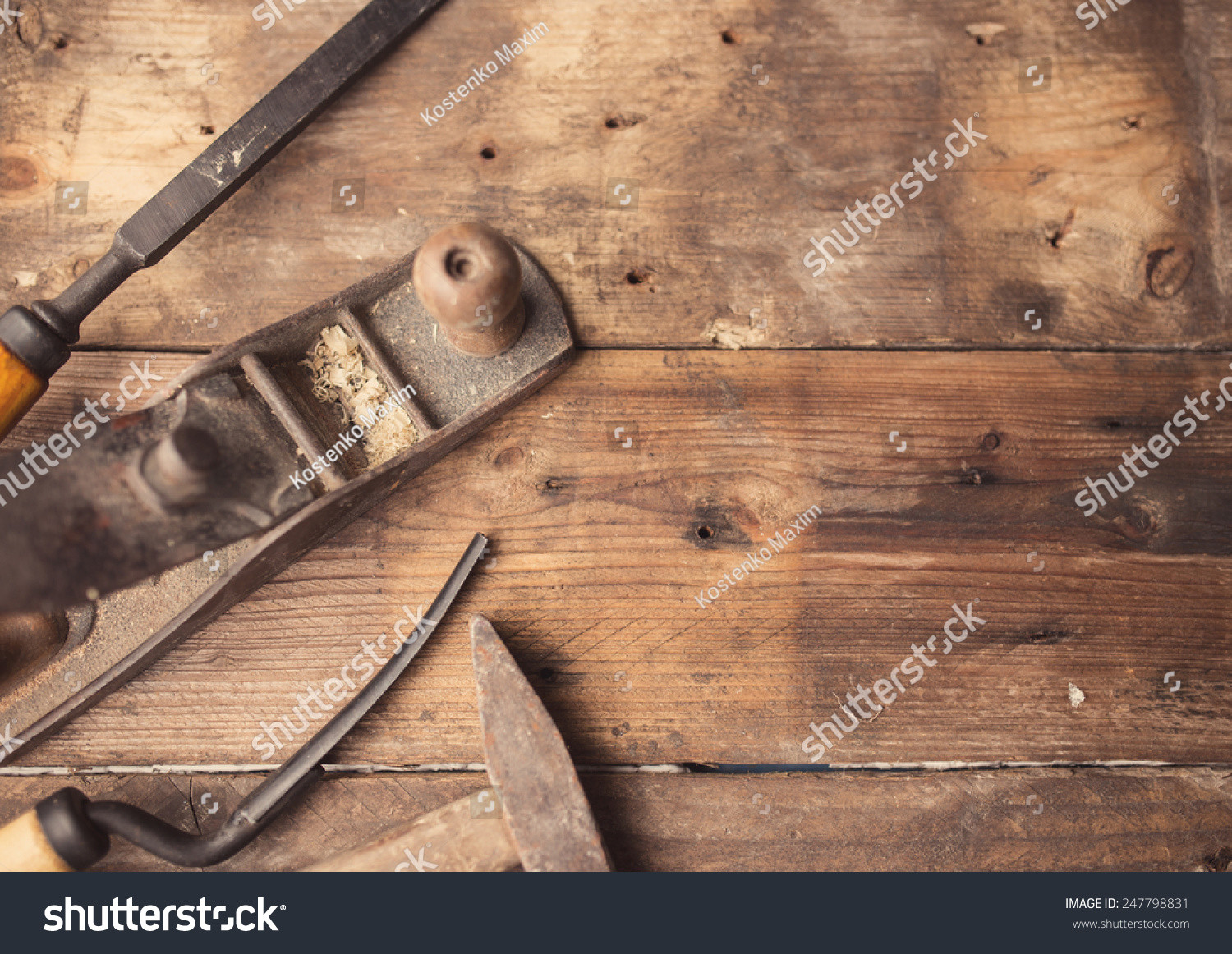 hardwood floor installation tools of od vintage hand tools on wooden stock photo edit now 247798831 for od vintage hand tools on wooden background carpenter workplace tinted photo