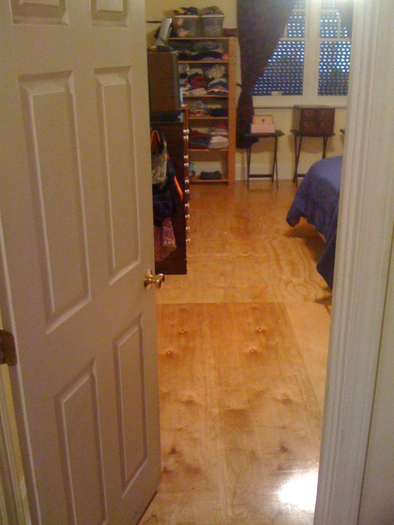 Hardwood Floor Molding Installation Of Diy Plywood Floors 9 Steps with Pictures with Picture Of Diy Plywood Floors