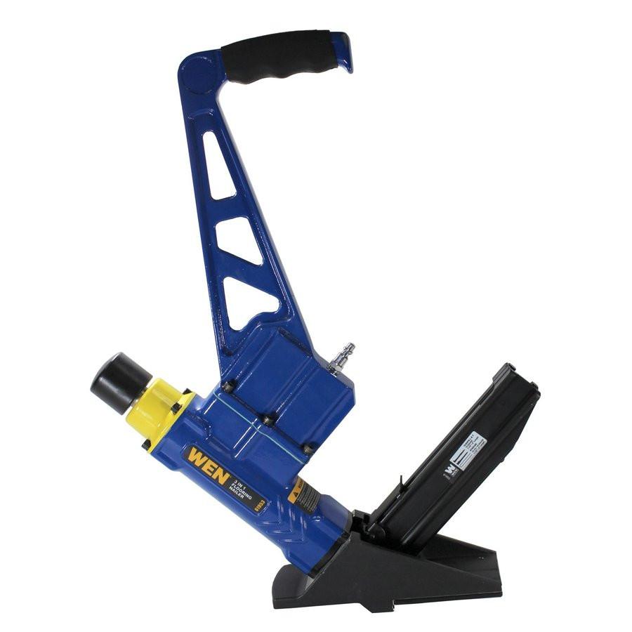 hardwood floor nail gun lowes of shop wen 2 in 16 gauge flooring nail gun at lowes com in wen 2 in 16 gauge flooring nail gun