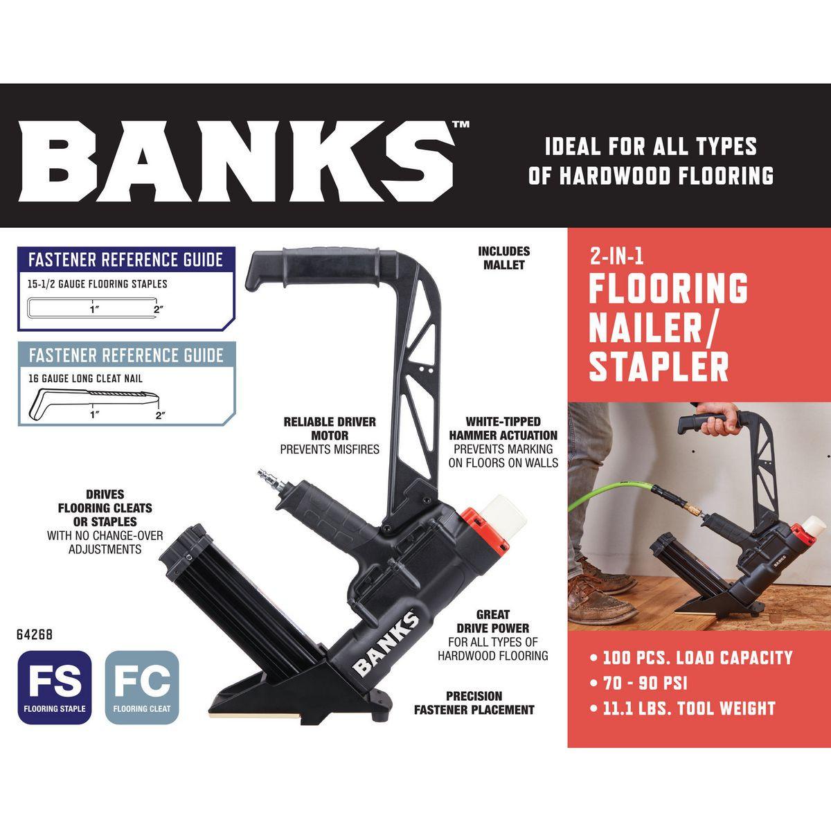 hardwood floor nailer harbor freight of 2 in 1 flooring air nailer stapler intended for 64268 w2ss