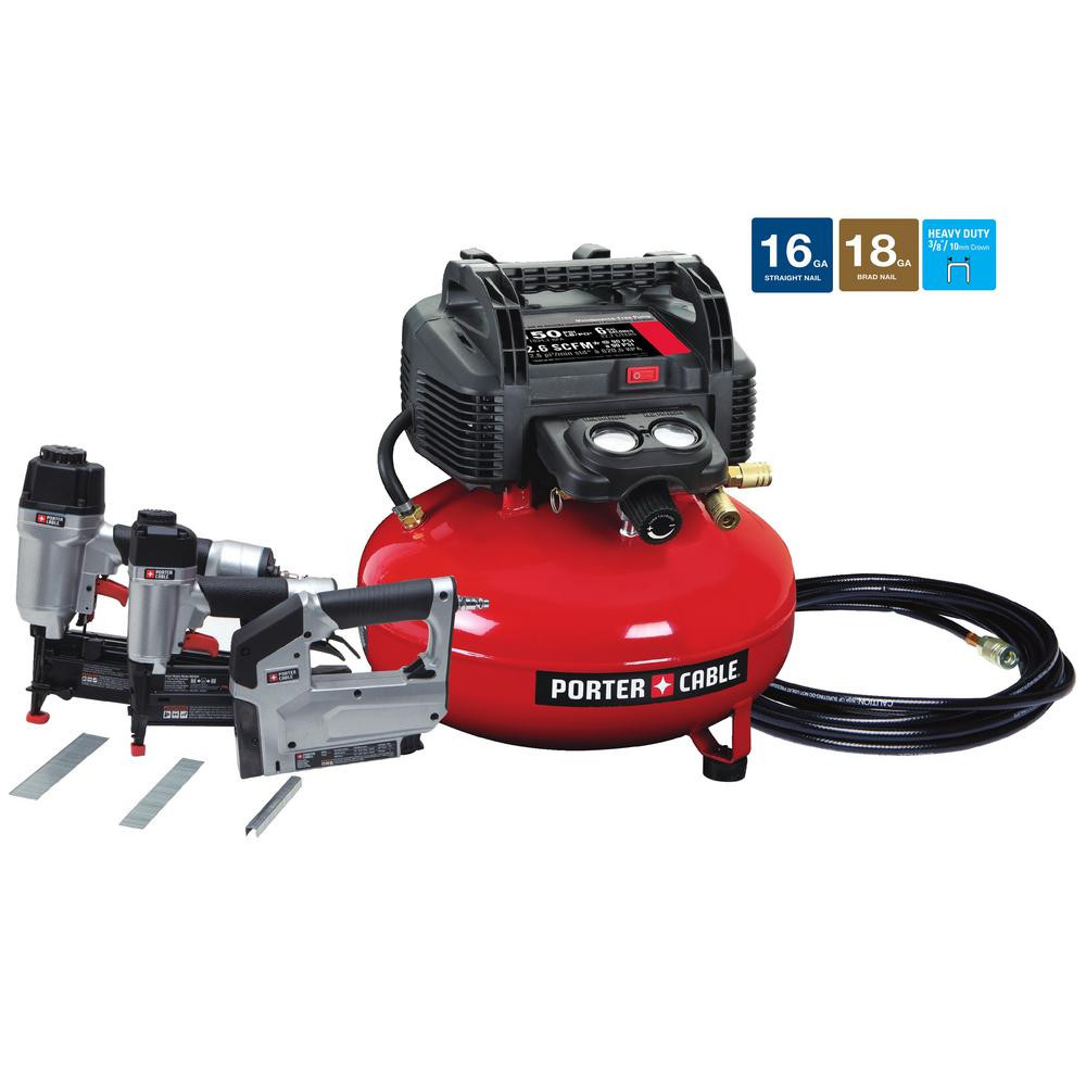 hardwood floor nailer harbor freight of porter cable 6 gal 150 psi portable electric air compressor 16 for porter cable 6 gal 150 psi portable electric air compressor 16 gauge