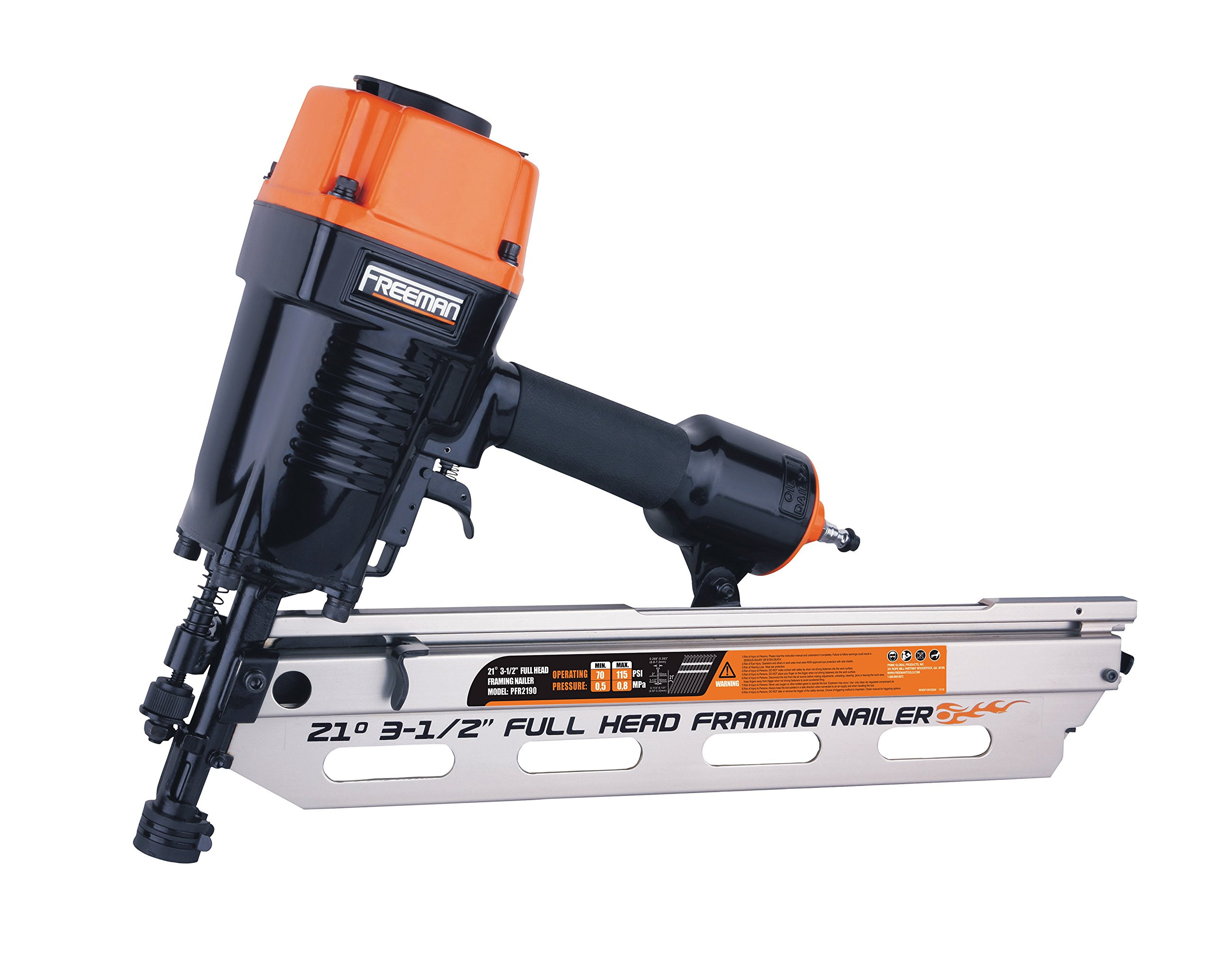 Hardwood Floor Nailer Psi Of Best Rated In Power Framing Nailers Helpful Customer Reviews Pertaining to Freeman Pfr2190 21 Degree Full Head Framing Nailer Product Image