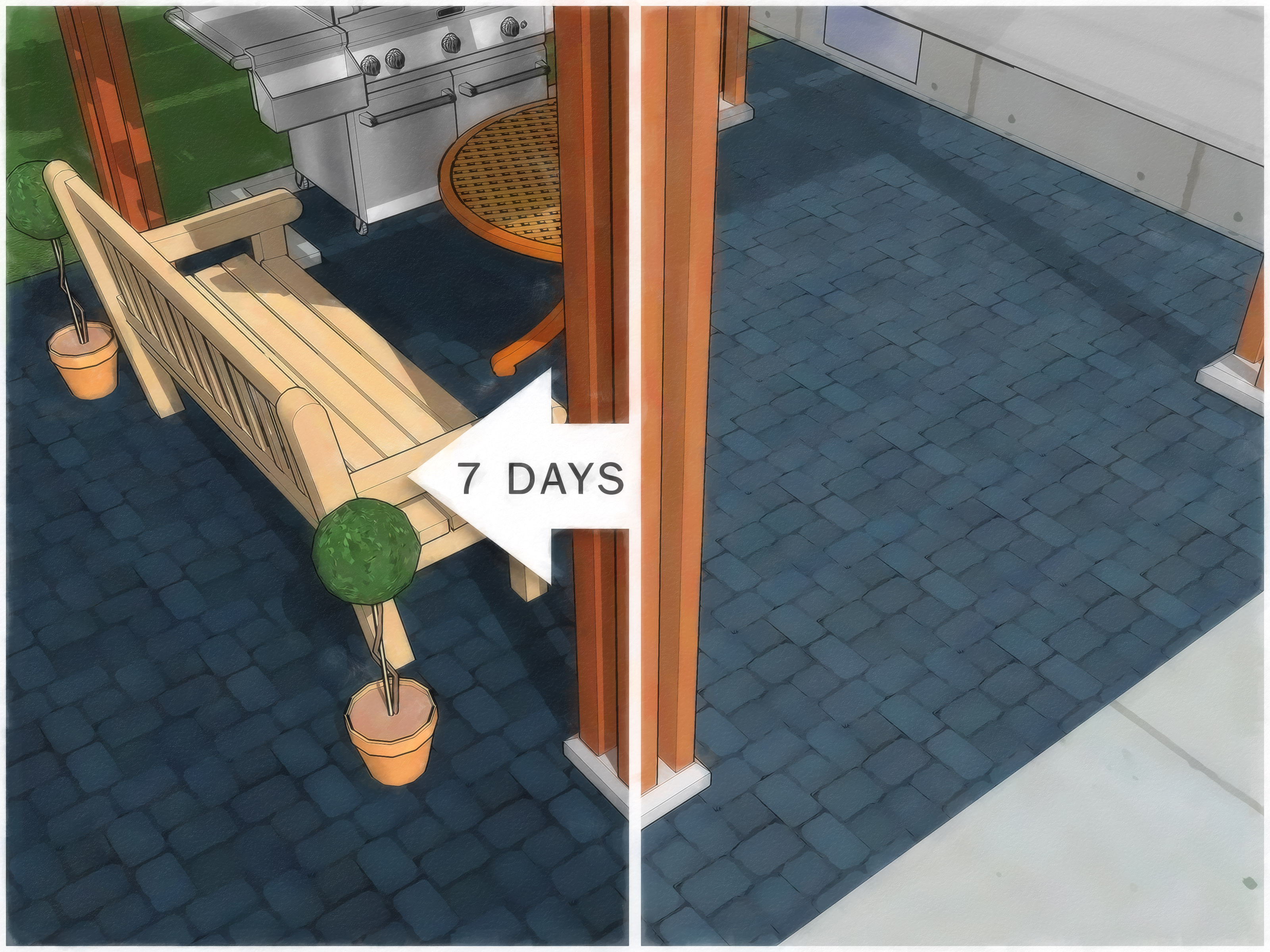 hardwood floor on concrete slab problems of how to paint an outdoor concrete patio with pictures wikihow intended for paint an outdoor concrete patio step 21