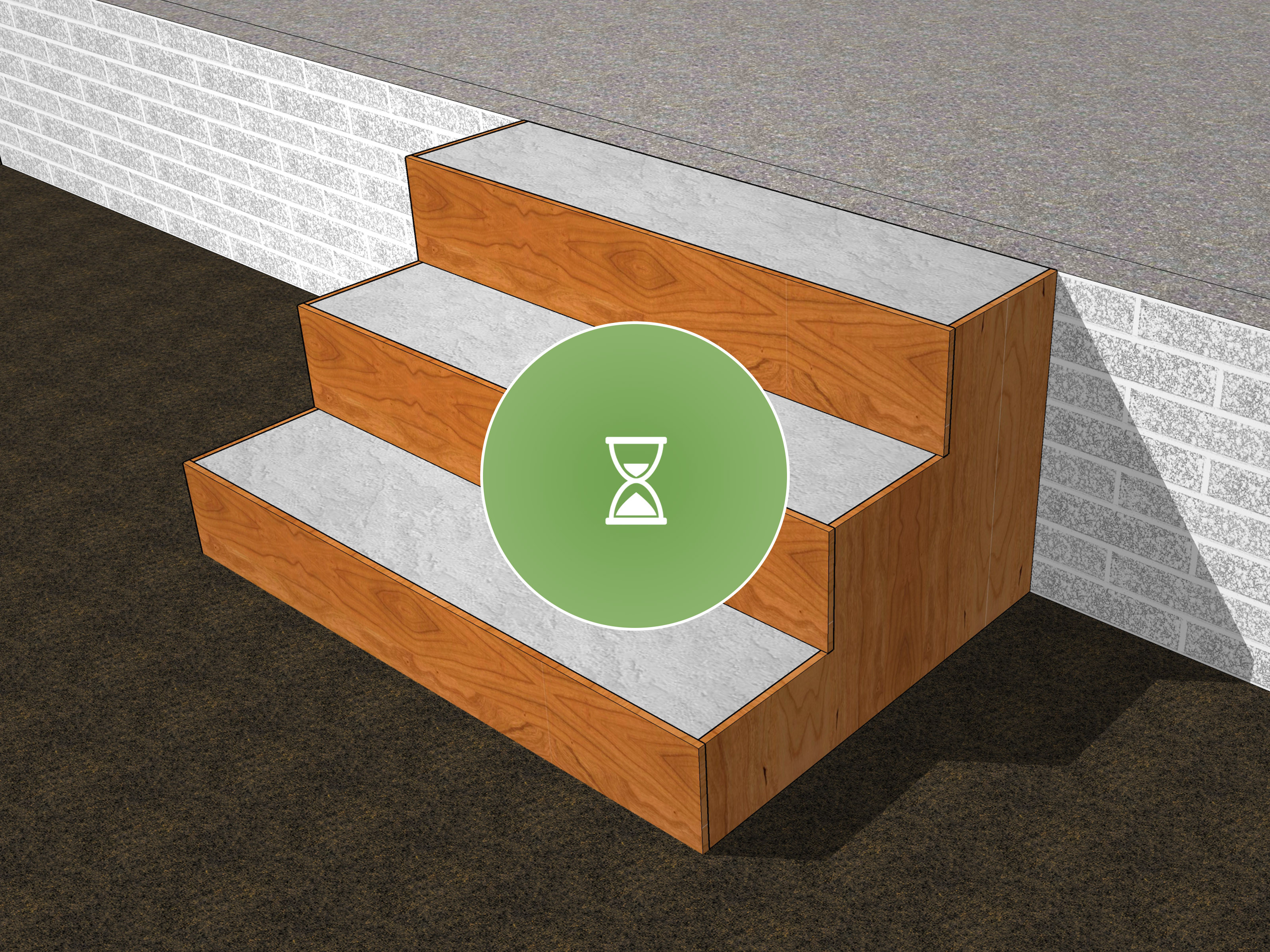 hardwood floor on concrete slab problems of the best way to build concrete steps wikihow intended for build concrete steps step 17