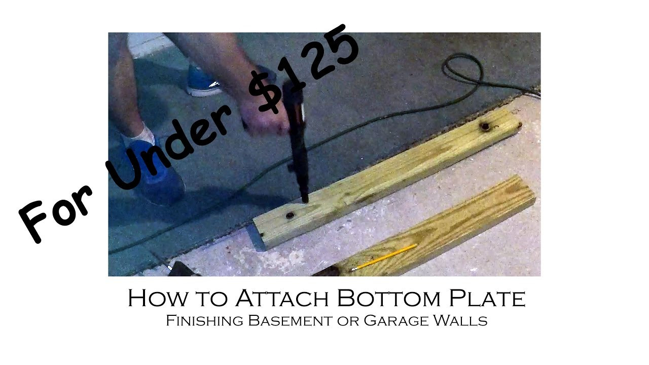 Hardwood Floor Over Concrete Basement Of How to Install A Bottom Plate Of Wall to Concrete Floor for Regarding How to Install A Bottom Plate Of Wall to Concrete Floor for Finishing A Basement or Garage for 125