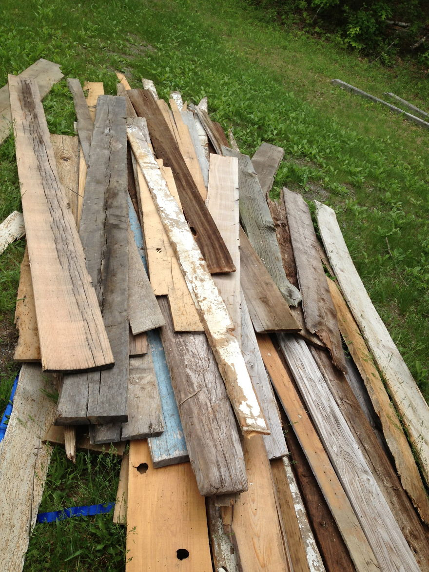 hardwood floor pattern illustrator of i made quilt inspired tables out of salvaged wood i found all over in this is just one days collected wood before it was loaded into my trusty old truck