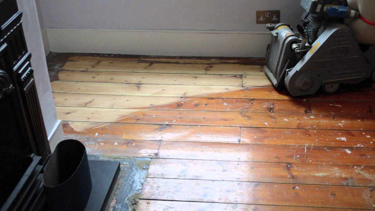 hardwood floor refinishing and installation of floor sanding with frank belt sander 24 grit belt youtube pertaining to maxresdefault