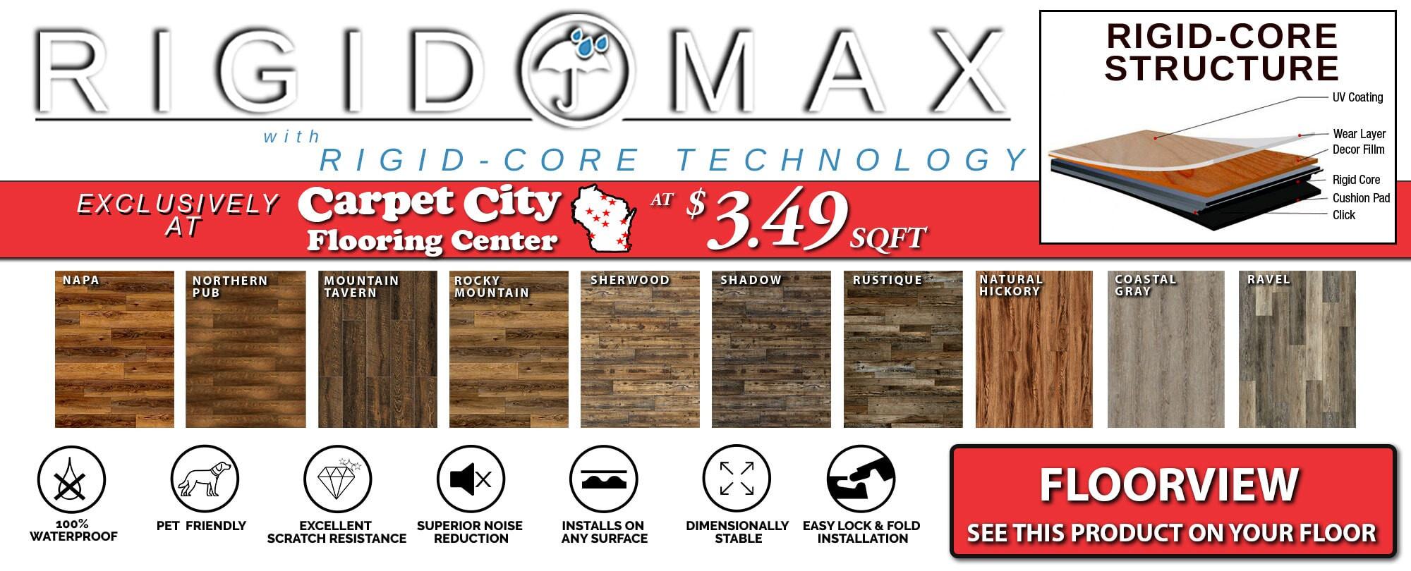 hardwood floor refinishing appleton wi of flooring in wisconsin from carpet city regarding shop rigid max a· contact us wisconsins largest flooring provider