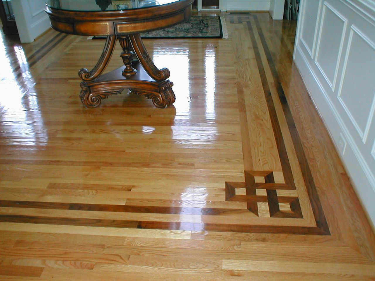 hardwood floor refinishing cherry hill nj of i love the illusion of depth created by this border you can tell regarding i love the illusion of depth created by this border you can tell the installers took care to contrast shades of the border material to keep it from all