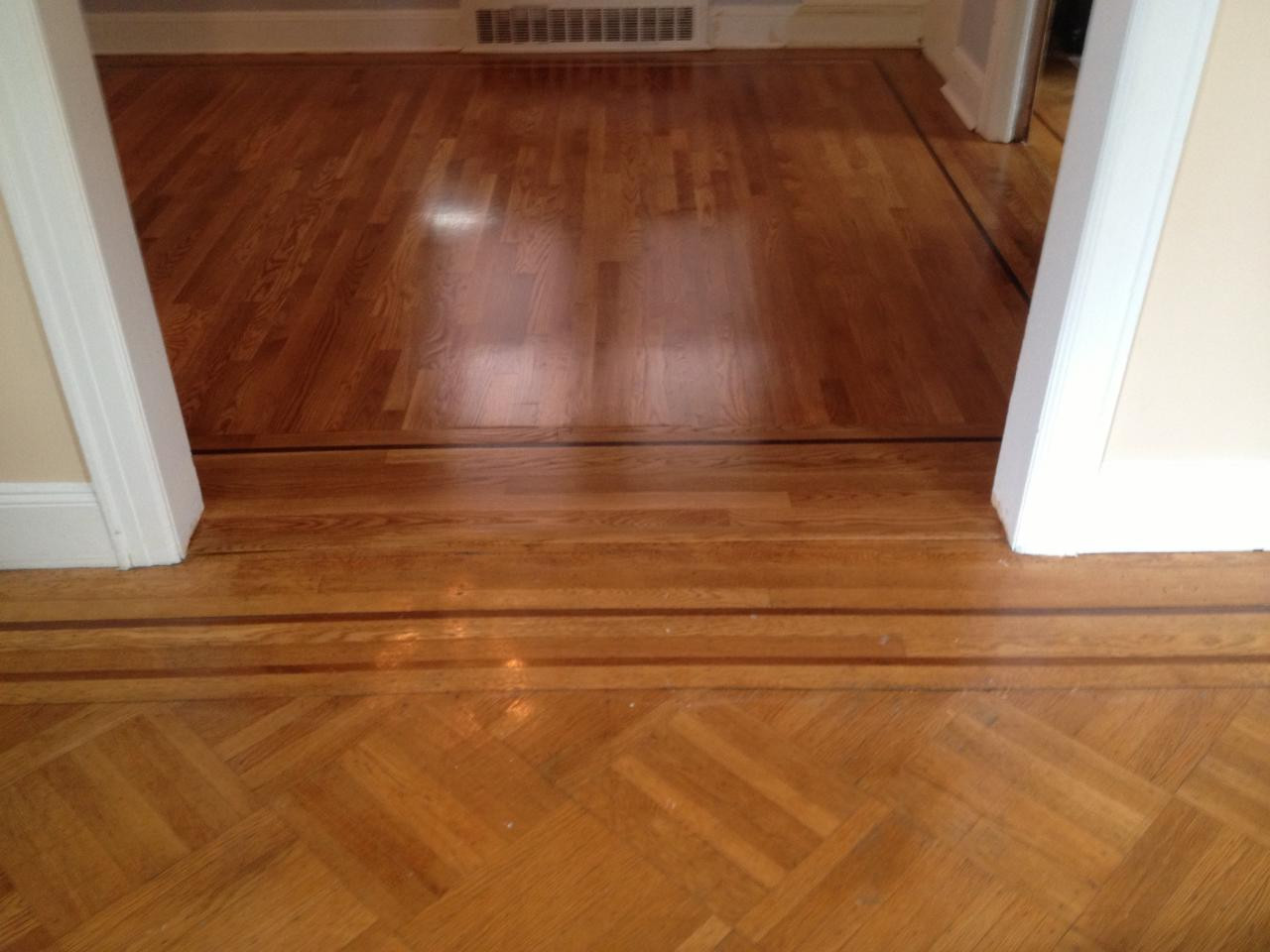 hardwood floor refinishing danbury ct of floor refinishing long island callahan brothers floors inc pertaining to mike callahan and his crew arrived right at the scheduled time they worked well as a team and began prepping immediately they installed plastic sheeting