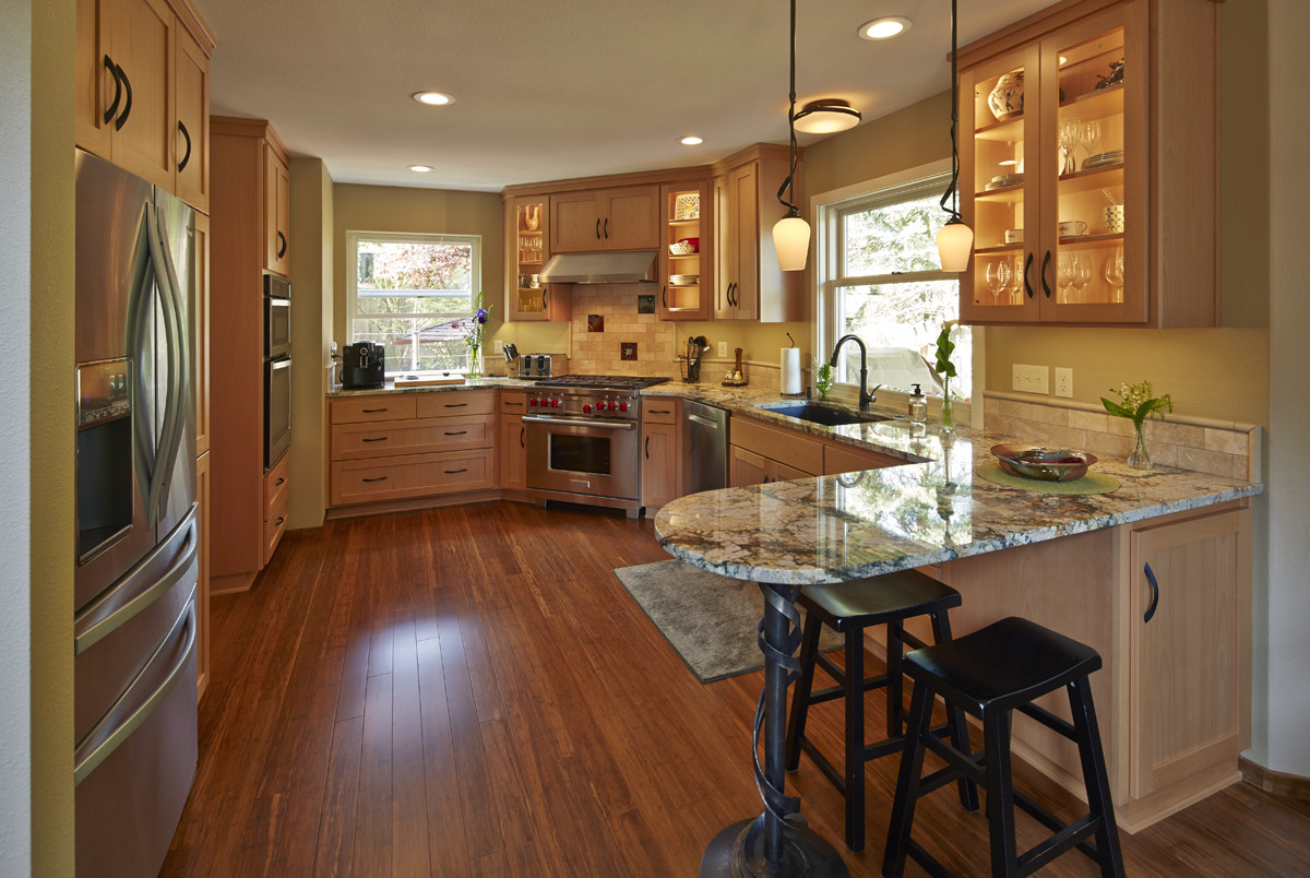 Hardwood Floor Refinishing Eugene Of Valley Wood Floors In Schmidt Kitchen and Laundry Room