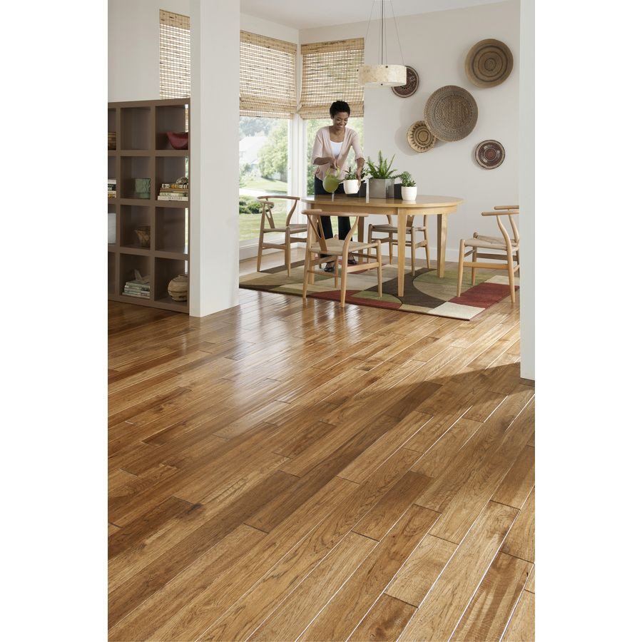 hardwood floor refinishing fort wayne of shop mullican flooring mullican 4 in w prefinished hickory hardwood in shop mullican flooring mullican 4 in w prefinished hickory hardwood flooring saddle at lowes com