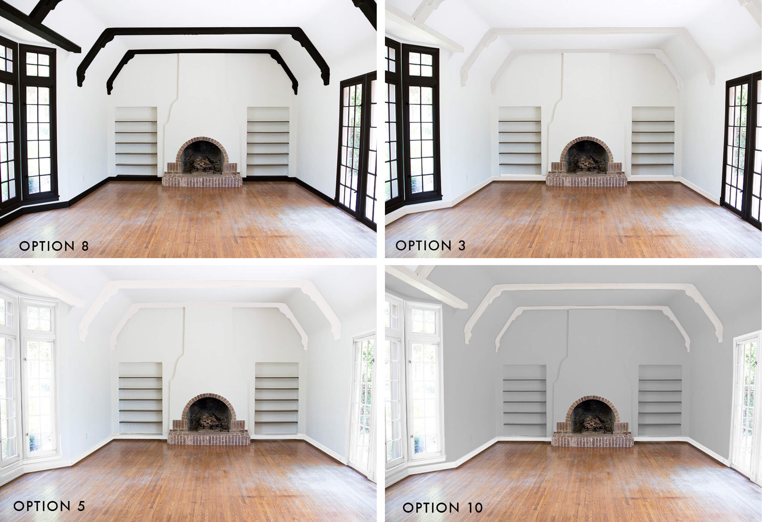 hardwood floor refinishing hamilton of how we refinished our wood beams emily henderson within emily henderson options painting trimwork grid of 4