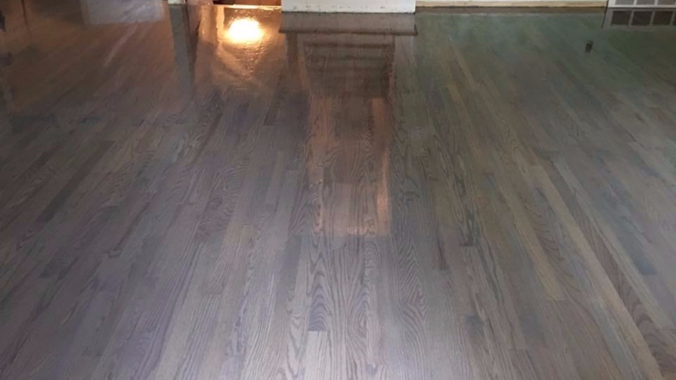 Hardwood Floor Refinishing In Livonia Mi Of Wilsons Floor Sanding Service Inside Image Showing A Moderately Stained Floor