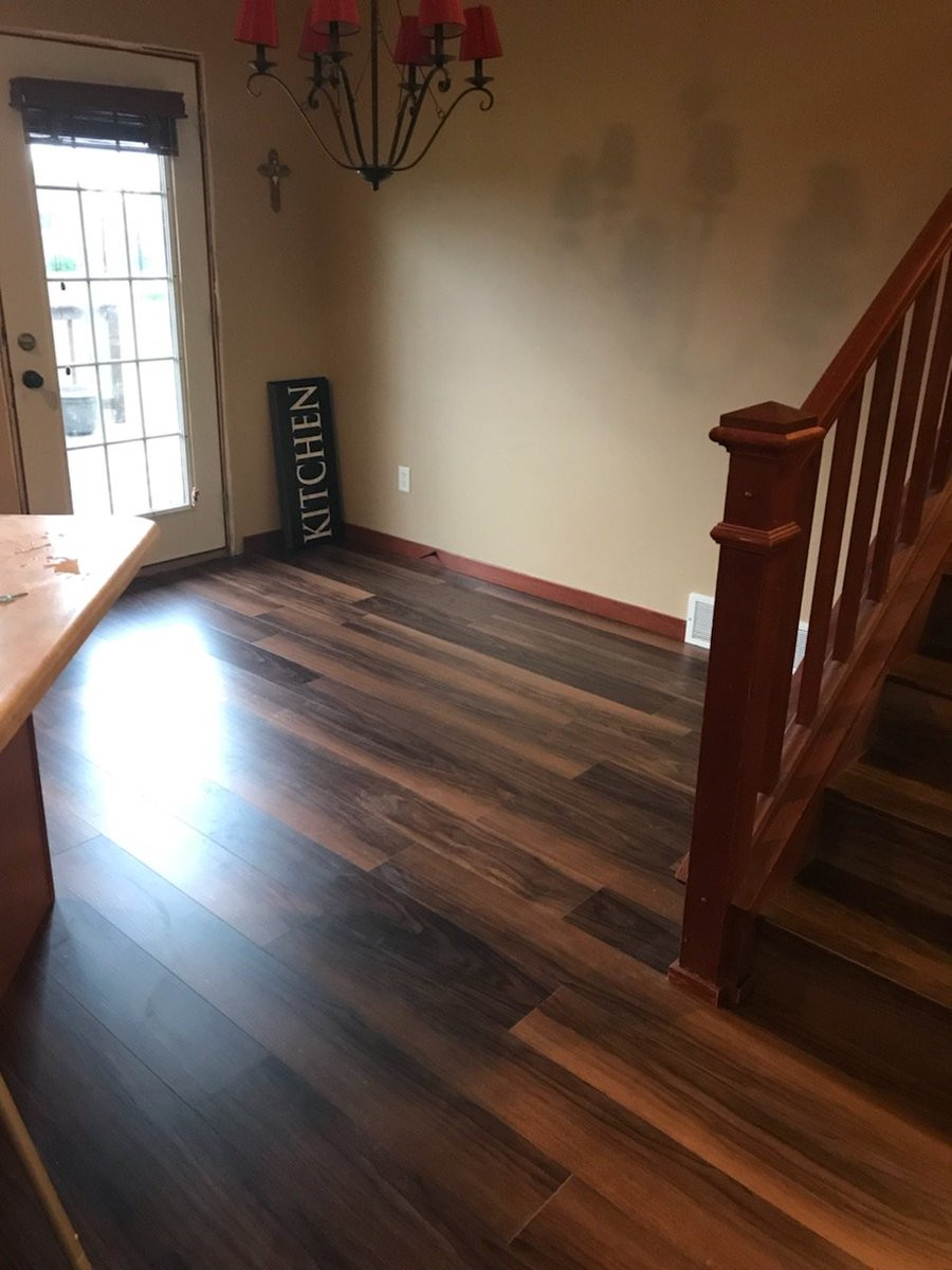 hardwood floor refinishing iowa city of marcus lumber marcuslumber twitter with from flooring to faucets we have you covered heres another completed job using luxury vinyl planks in a brand called hallmark color viscount walnut